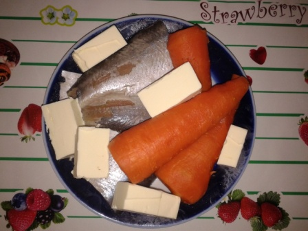 сельдь с маслом и морковью